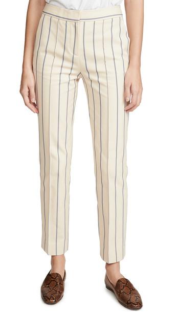 Victoria Victoria Beckham Slim Trousers in blue / sand / white