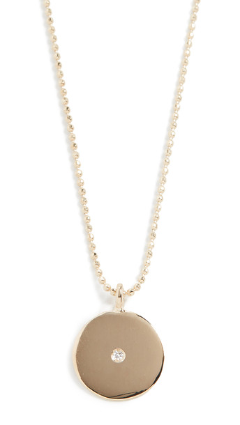 Ariel Gordon Jewelry 14k Small Circle Pendant Necklace in gold