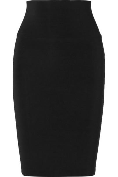 Norma Kamali - Stretch-jersey Skirt - Black