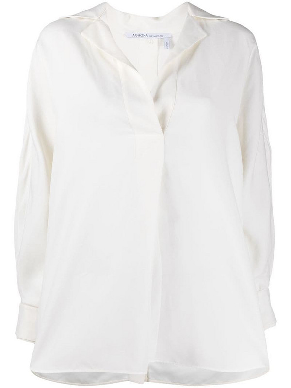 Agnona notched-collar shirt in white