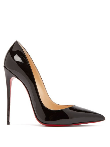 Christian Louboutin - So Kate 120 Patent Leather Pumps - Womens - Black