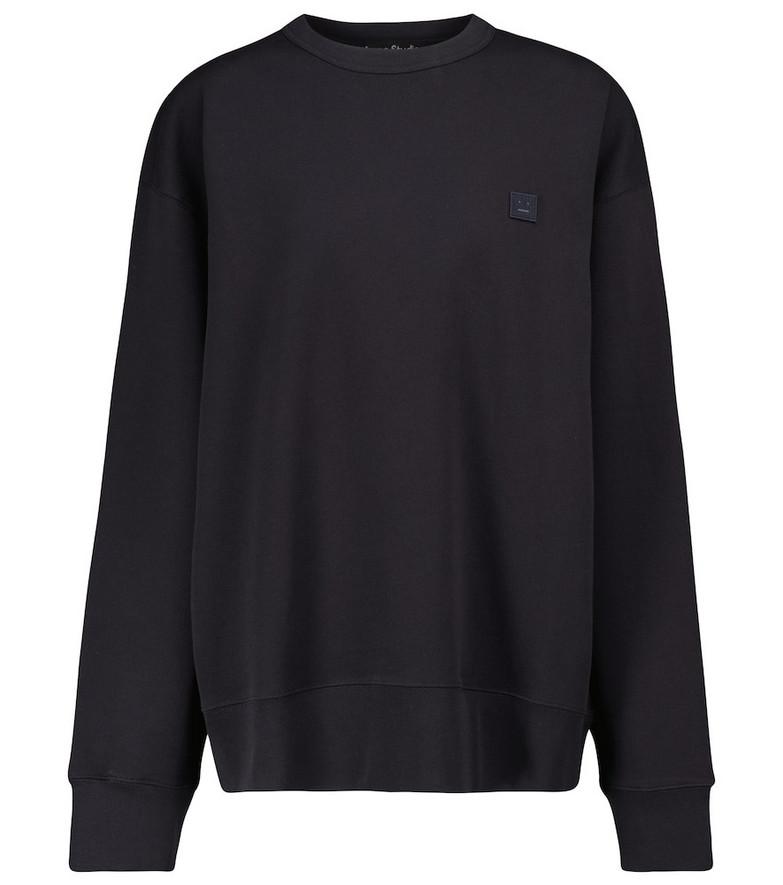 Acne Studios Fonbar Face cotton sweatshirt in blue