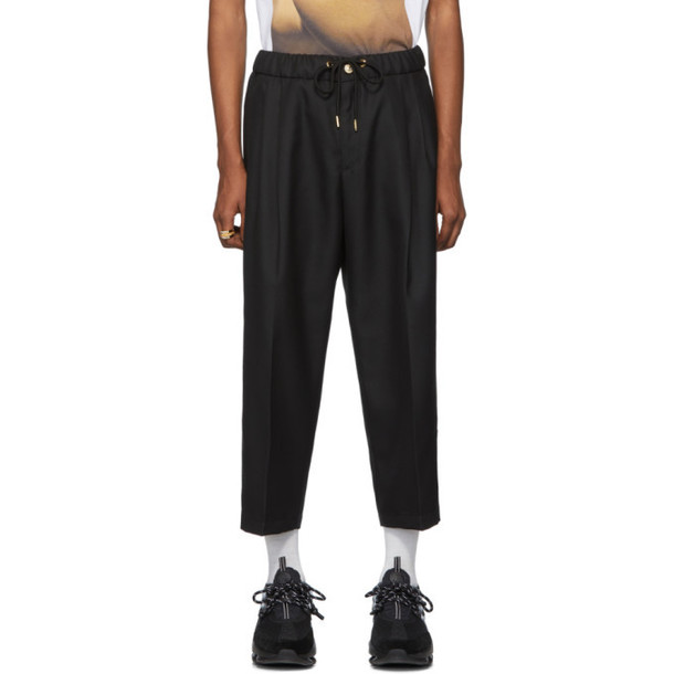 Versace Jeans Couture Black Twill Trousers