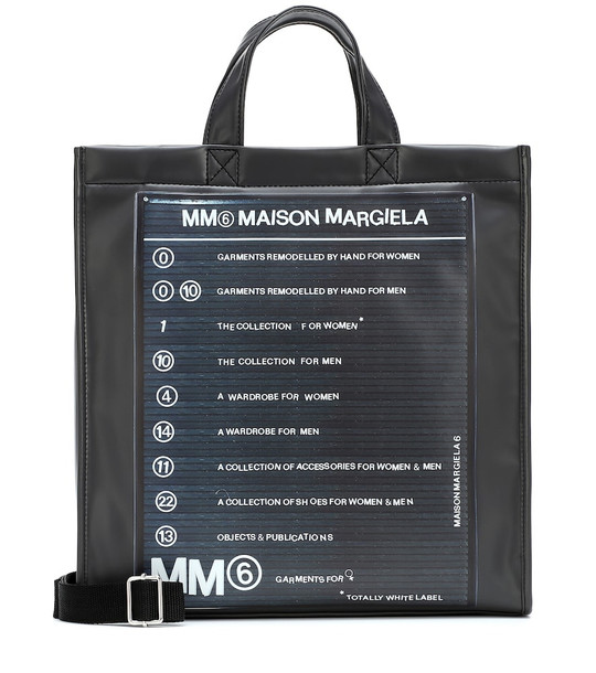 MM6 Maison Margiela Coated canvas tote in black