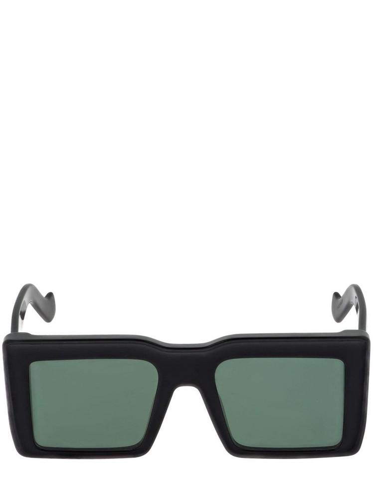 LOEWE Squared Acetate Sunglasses in black / green
