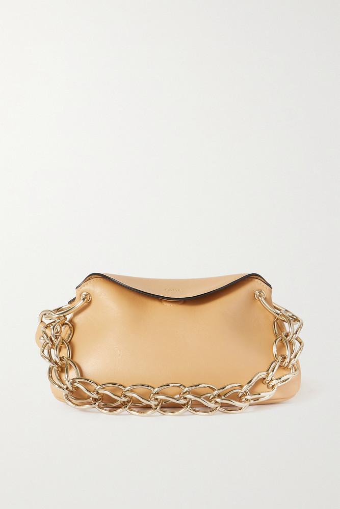 Chloé Chloé - Juana Mini Leather Shoulder Bag - Neutrals