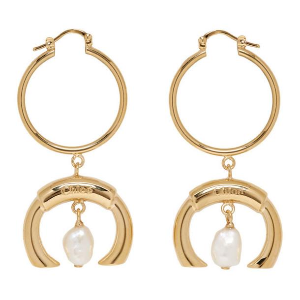 Chloe Gold Pearl Darcey Earrings