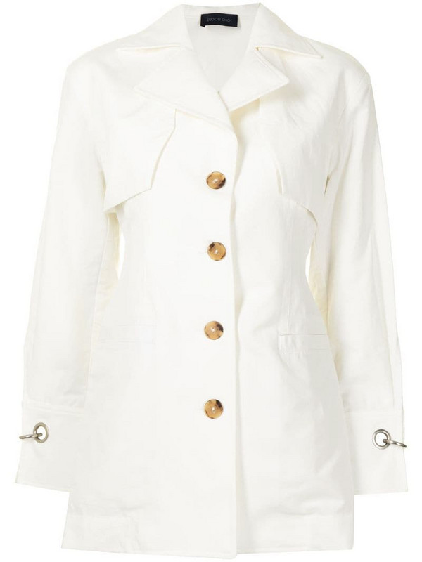 Eudon Choi single-breasted layered blazer in white