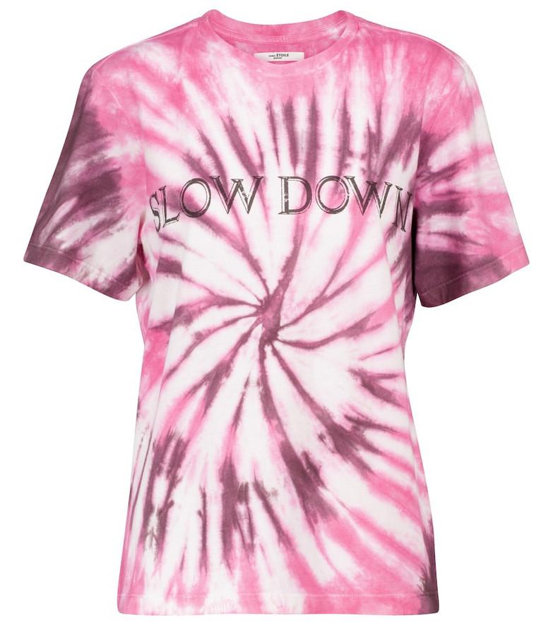 Isabel Marant, Étoile Zewel tie-dye cotton T-shirt in pink
