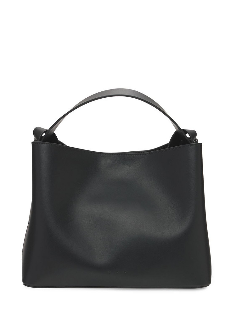 AESTHER EKME Mini Sac Smooth Leather Top Handle Bag in black