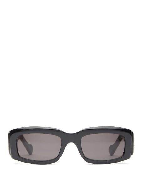 Balenciaga - Oversized Rectangle Acetate Sunglasses - Womens - Black