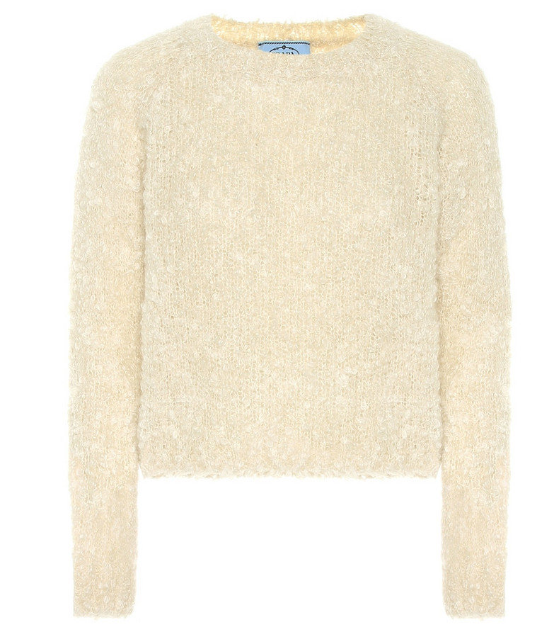Prada Mohair, cashmere and silk sweater in beige
