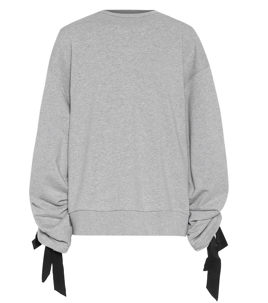 Dries Van Noten Cotton sweatshirt in grey