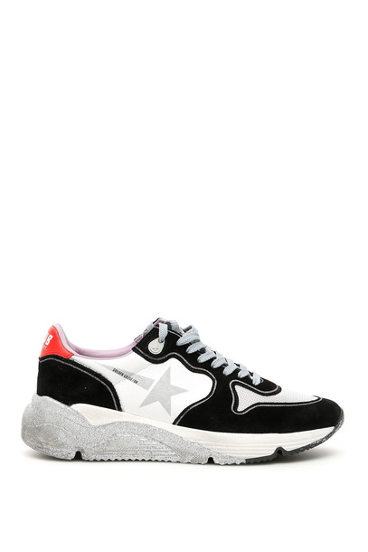 Golden Goose Running Sole Sneakers in black / red / silver / white