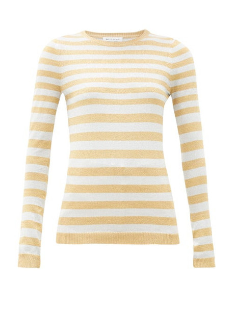 Bella Freud - Striped Metallic Sweater - Womens - Silver Gold