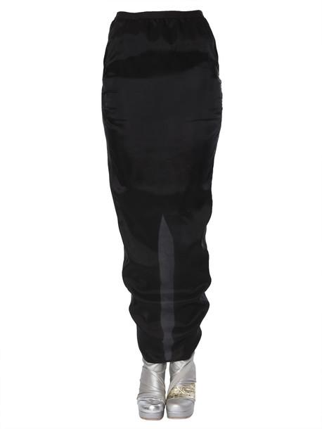 Rick Owens Pillar Skirt in nero
