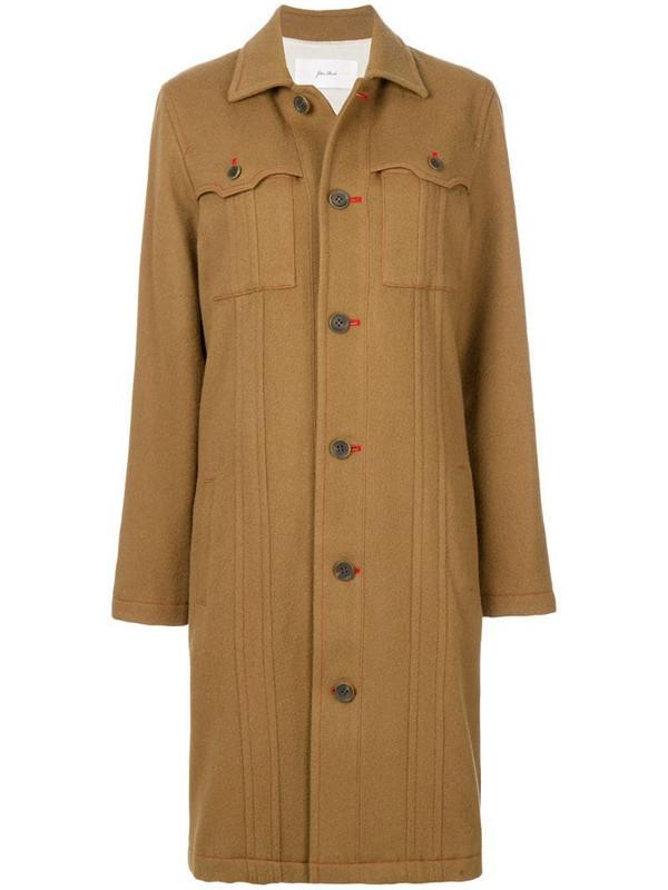 Julien David pocket detail coat in brown