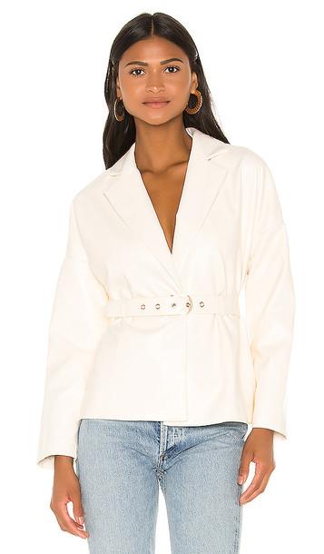 Camila Coelho Bruna Jacket in Ivory