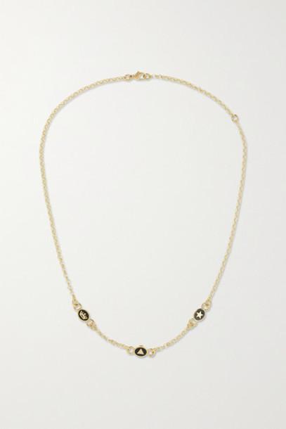 Foundrae - 18-karat Gold Enamel Necklace
