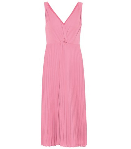 Vince Pleated midi dress in pink