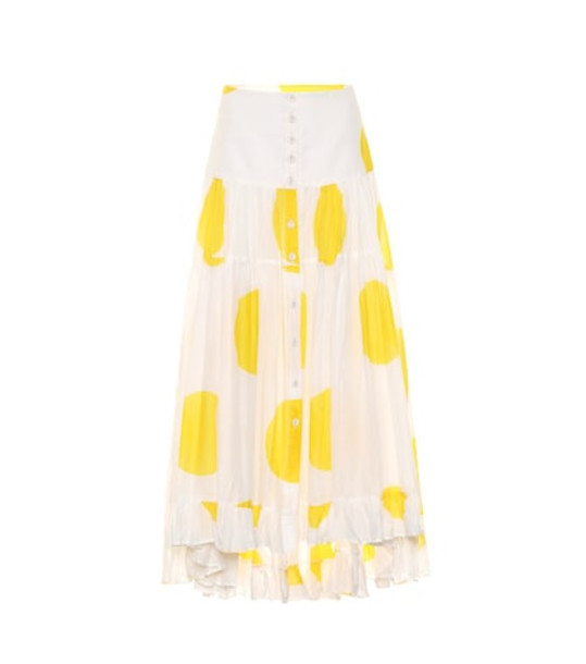 Alexandra Miro Exclusive to Mytheresa – Penelope dotted cotton maxi skirt in yellow