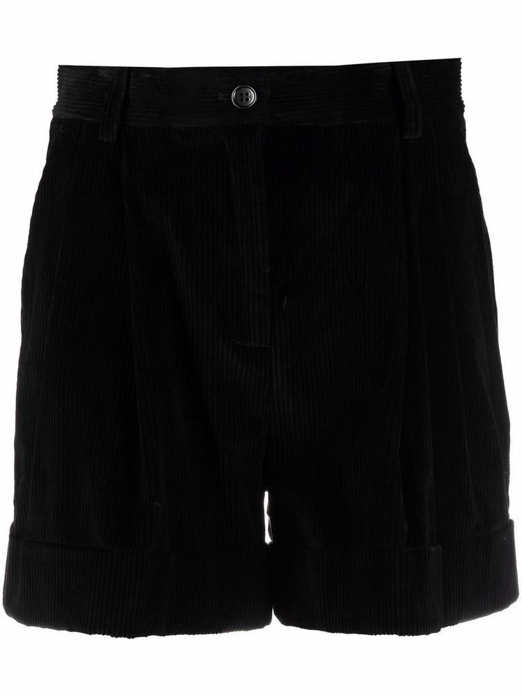 P.A.R.O.S.H. P.A.R.O.S.H. tailored corduroy shorts - Black