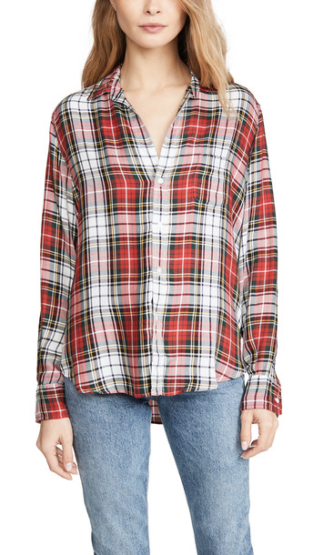 Frank & Eileen Eileen Button Down Shirt in red / white / yellow / multi