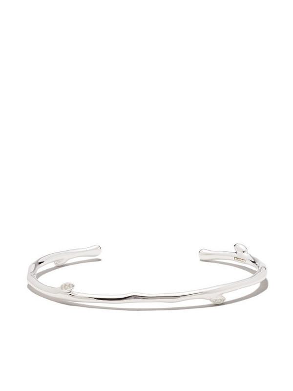 Shaun Leane Cherry Blossom diamond bangle in silver