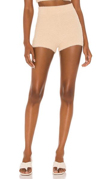 Camila Coelho Toni Knit Shorts in Tan in neutral