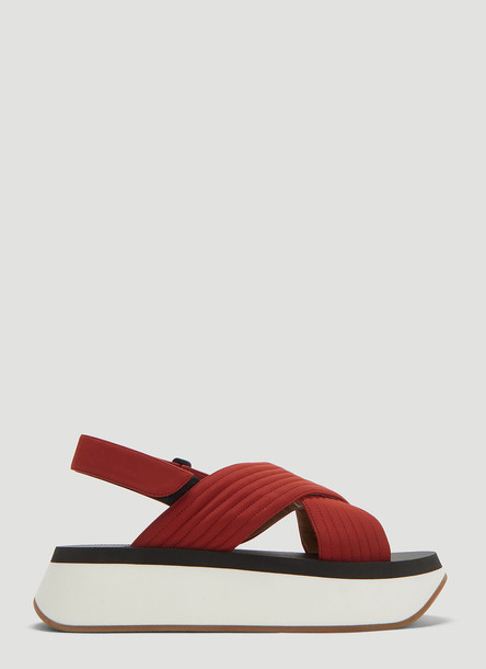 Marni Wedge Sandals in Red size EU - 36