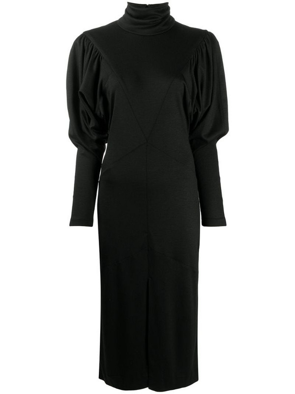 Isabel Marant roll-neck mid-length dress in black