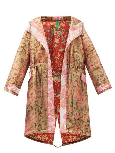 Rianna + Nina Rianna + Nina - Vintage Silk-brocade Hooded Coat - Womens - Multi