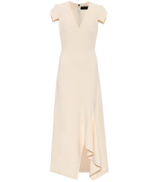 Roland Mouret Kingslake crêpe dress in pink