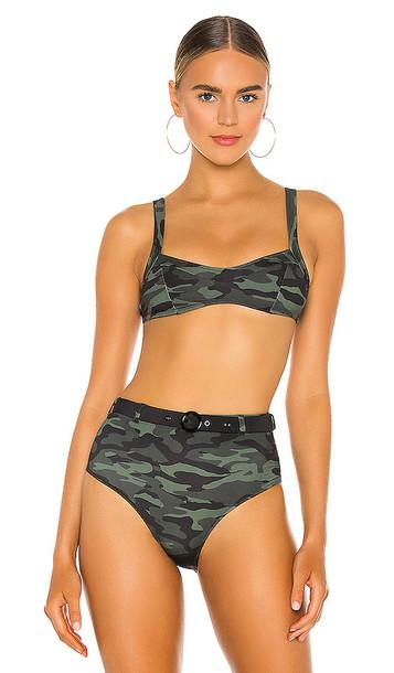 Solid & Striped Molly Bikini Top in Green