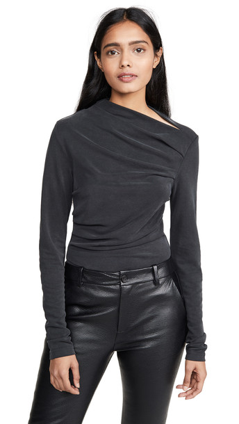 Acler Bailey Top in charcoal