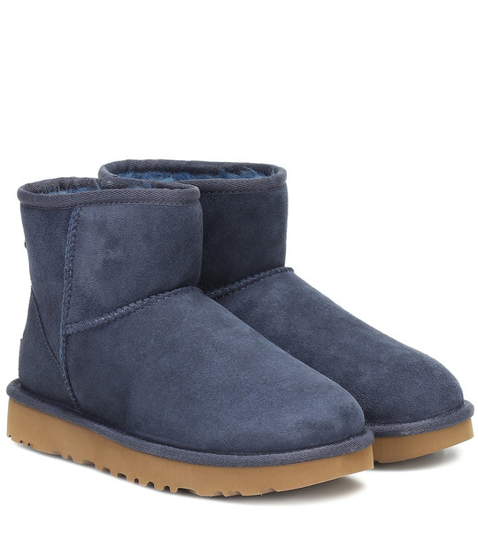 Ugg Classic Mini II suede ankle boots in blue