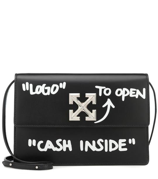 Off-White 1.0 Jitney leather shoulder bag in black