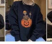 sweater,black,halloween,sweatshirt,pullover,crewneck,crewneck sweater