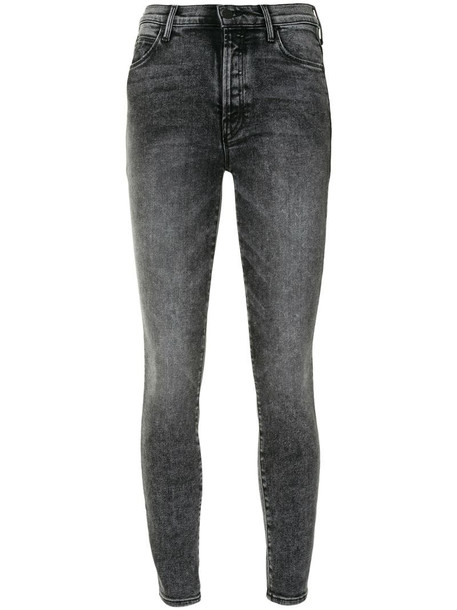 Mother light-wash skinny jeans in grey