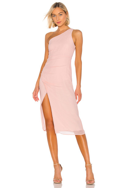NBD Romina Midi Dress in pink