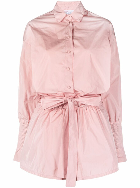 RED Valentino belted taffeta playsuit - Pink