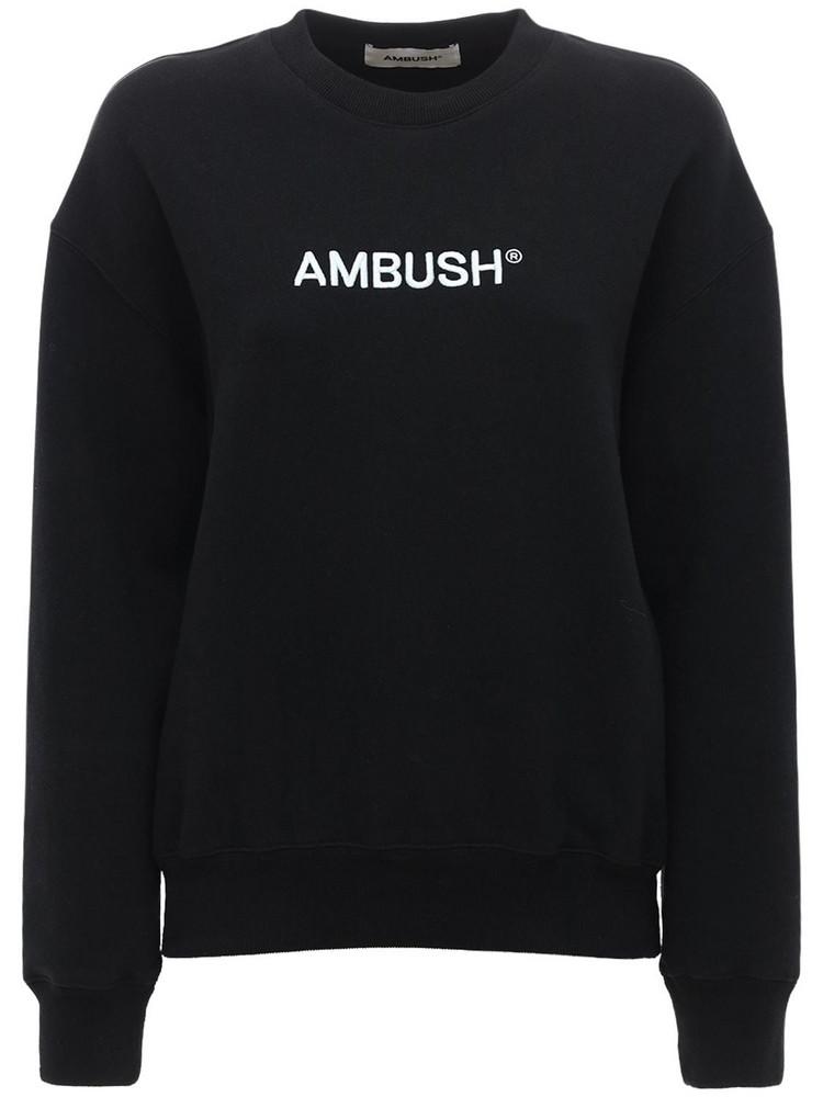 AMBUSH Regular Fit Jersey Sweatshirt in black