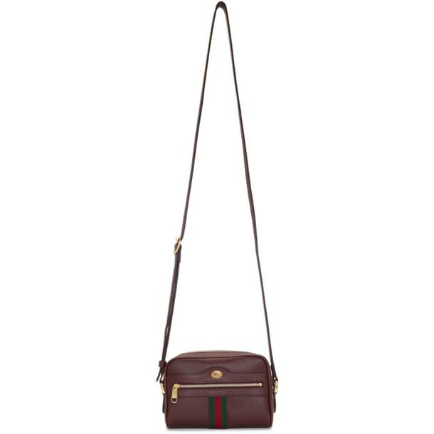 Gucci Burgundy Ophidia Shoulder Bag