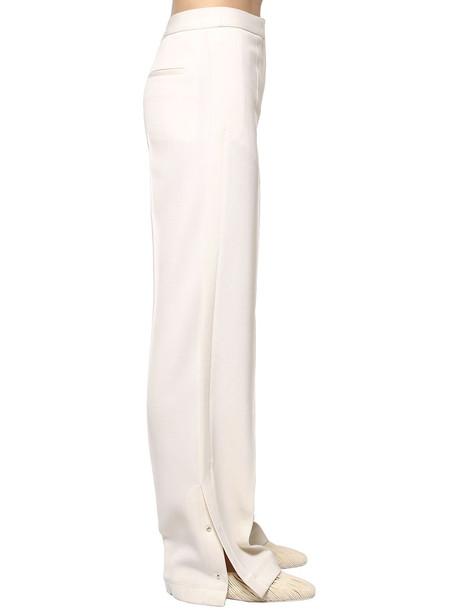 JIL SANDER Wool Gabardine Pants in ivory