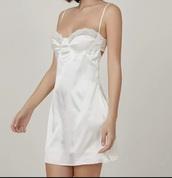 dress,cream,white,silk,silk dress,silk white dress,fashion,girly,white dress