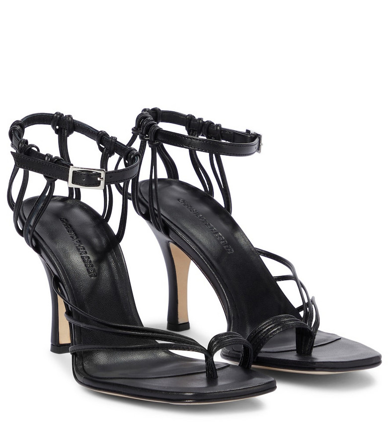 CHRISTOPHER ESBER Leather sandals in black