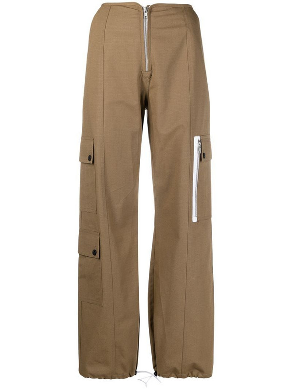 Sandy Liang high-rise cargo trousers in neutrals