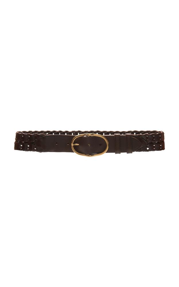 Miu Miu Woven Leather Belt Size: 75 cm in brown