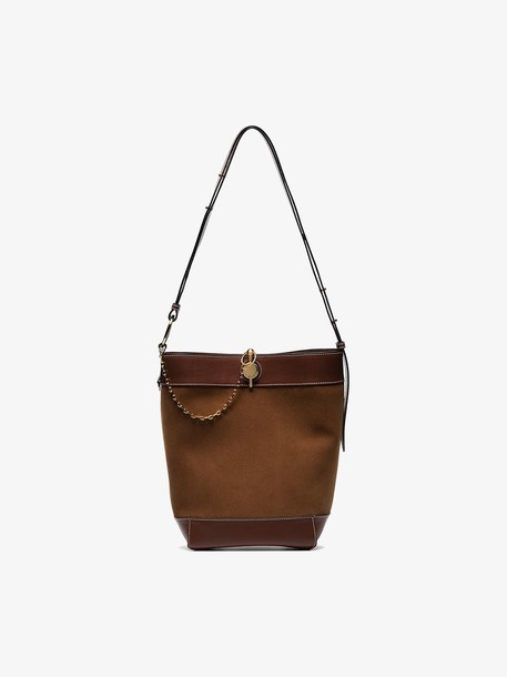 JW Anderson Brown Chestnut Keys leather tote
