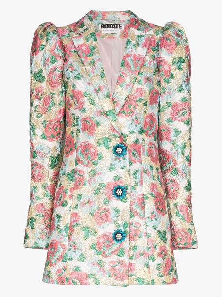 ROTATE carol floral jacquard blazer dress in pink